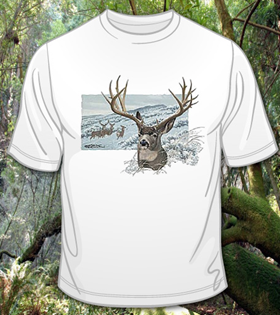 gorgeous scenic deer shirt