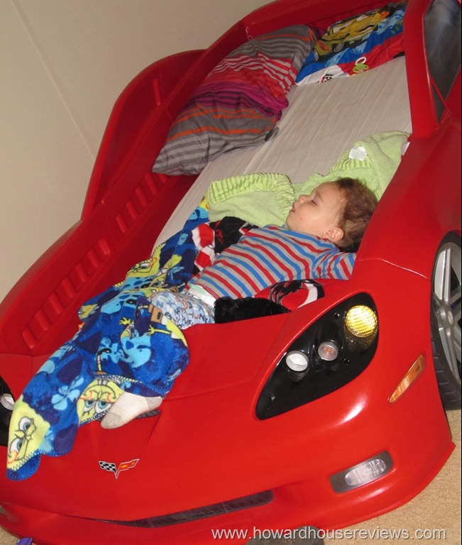 step2 corvette toddler to twin bed with lights