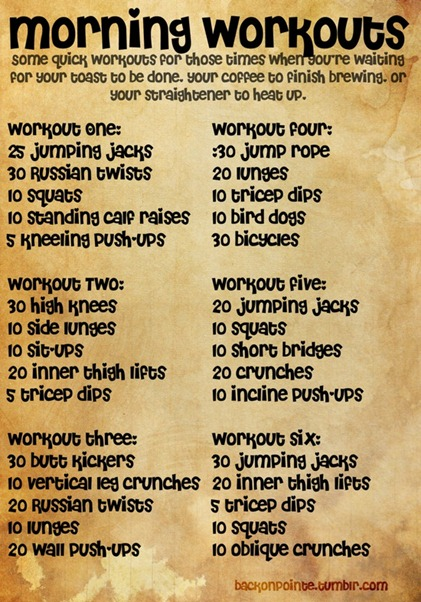 easy 10 min excerise routines