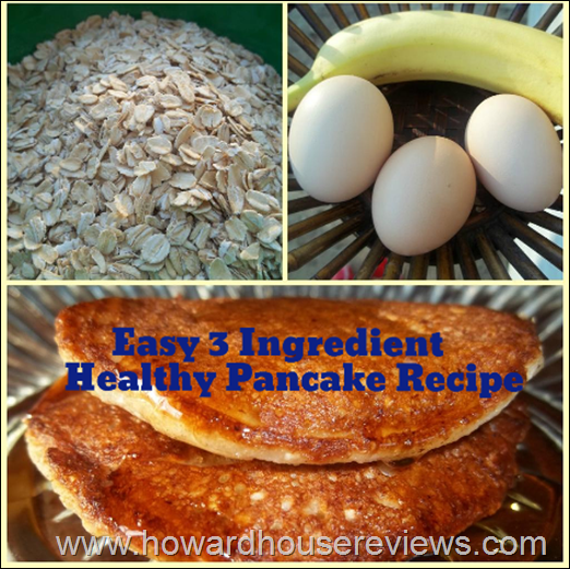 easy three ingredient health pancake recipe