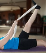 Leg stretch with Yoga Strap
