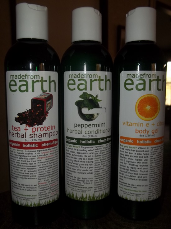 Made from Earth natural products
