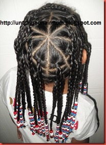 fireworks fourth of July hairstyle